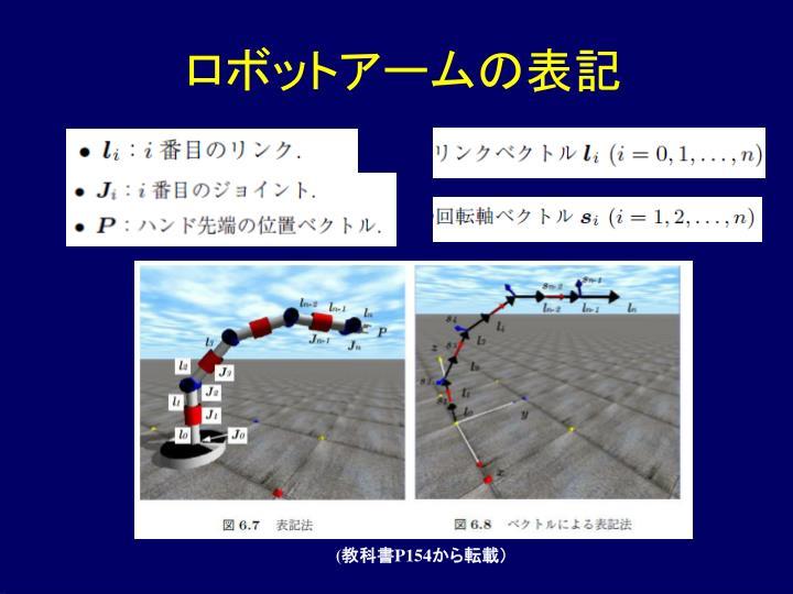 ロボットアームの表記