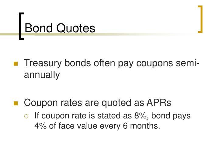 Bond Quotes