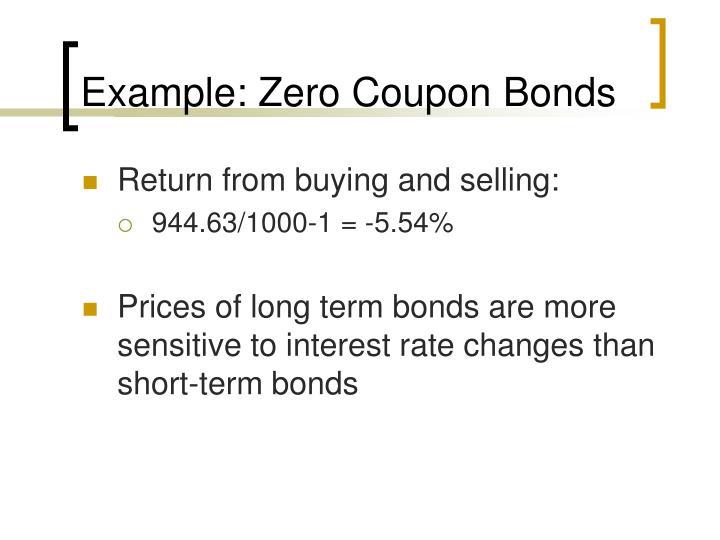 Example: Zero Coupon Bonds