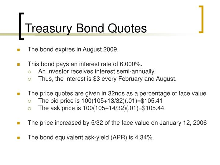 Treasury Bond Quotes
