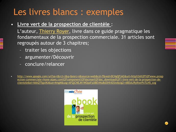 Les livres blancs : exemples