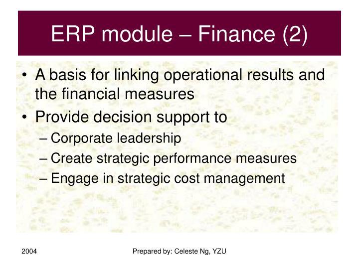 ERP module – Finance (2)