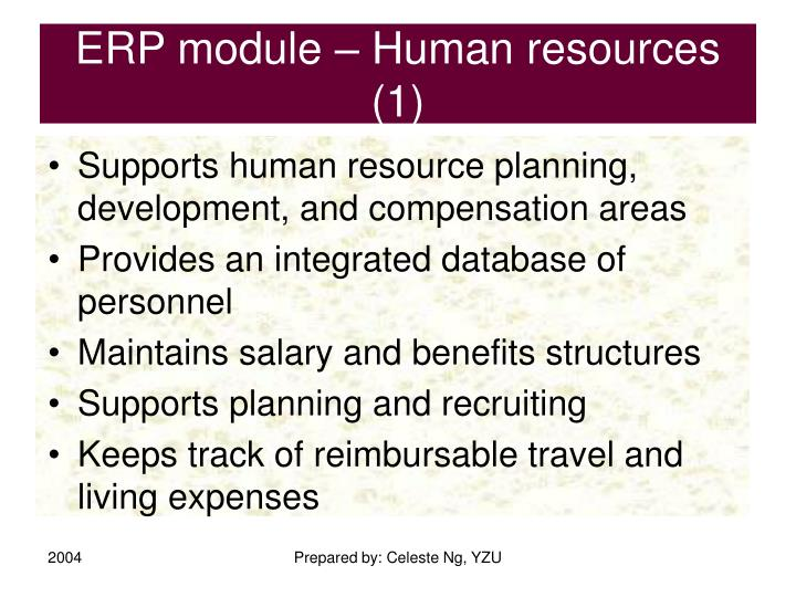 ERP module – Human resources (1)