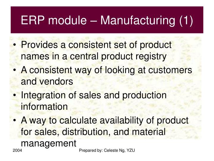 ERP module – Manufacturing (1)