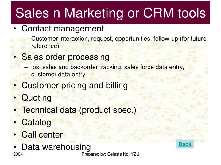 Sales n Marketing or CRM tools