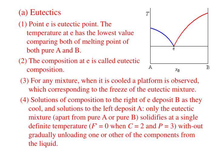 (a) Eutectics