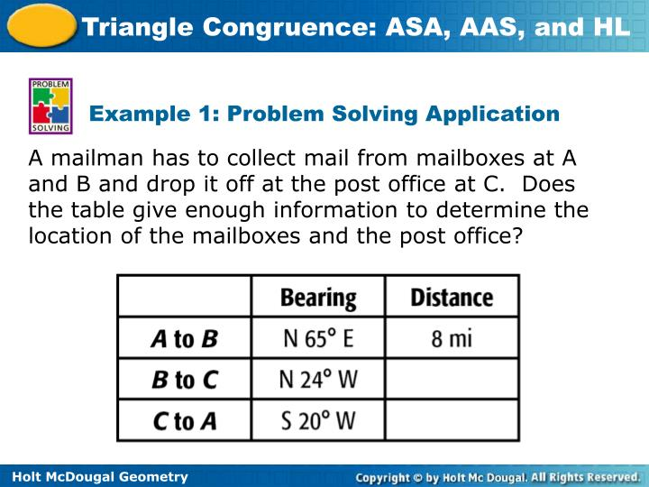 Example 1: Problem Solving Application