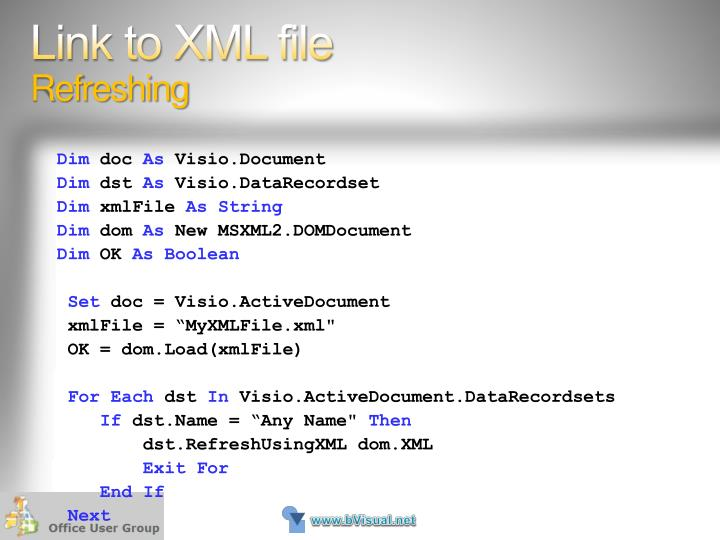 Link to XML file