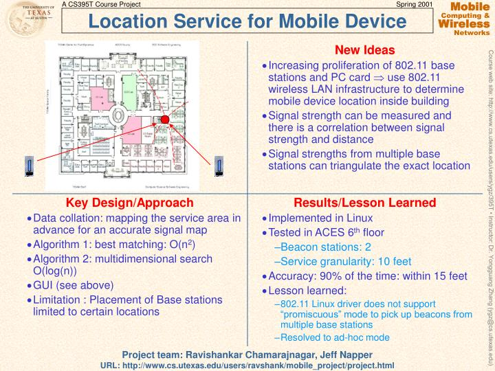 Location service for mobile device