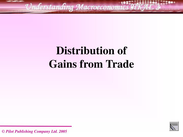 Distribution of                     Gains from Trade