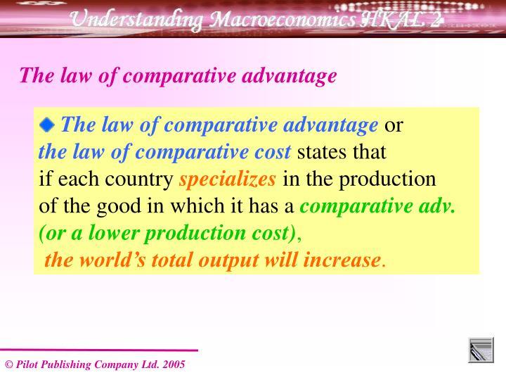 The law of comparative advantage