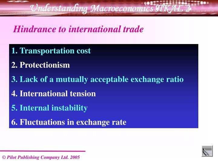 Hindrance to international trade