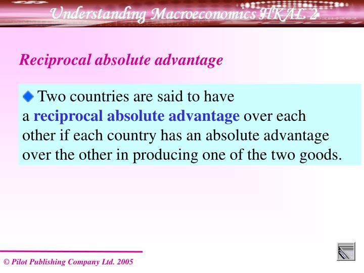 Reciprocal absolute advantage