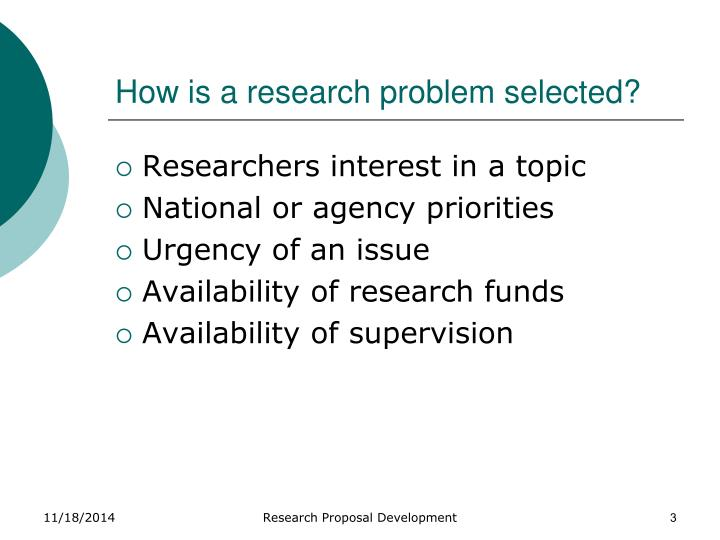 how is a good research problem selected