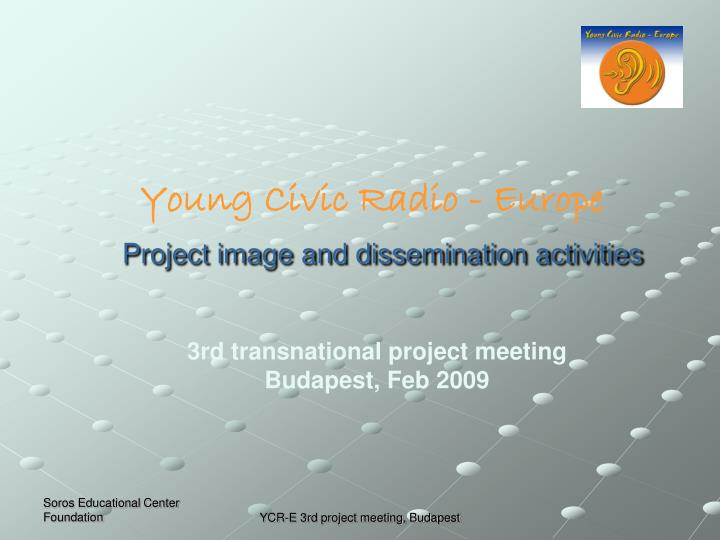project image and dissemination activities