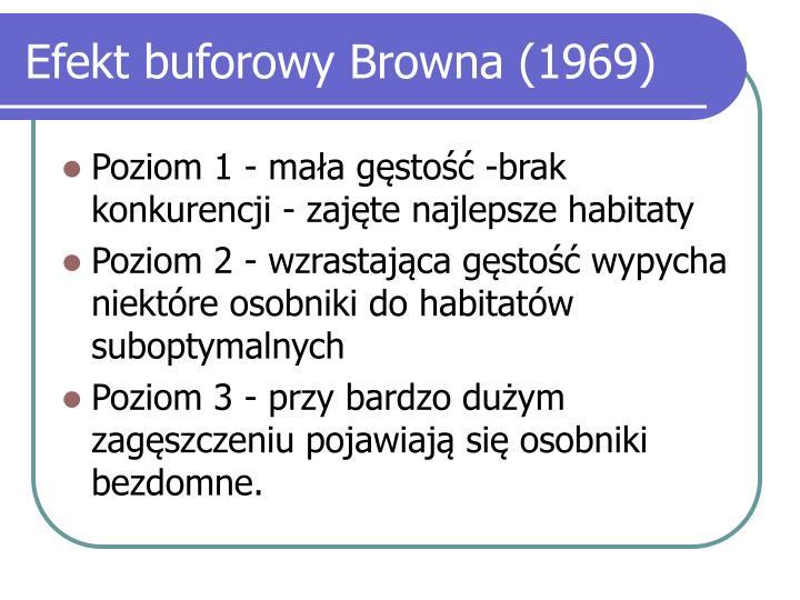 Efekt buforowy Browna (1969)