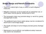 bridge design and retrofit constraints