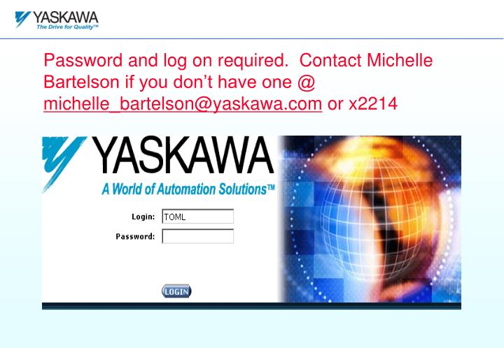 Password and log on required.  Contact Michelle Bartelson if you don't have one @