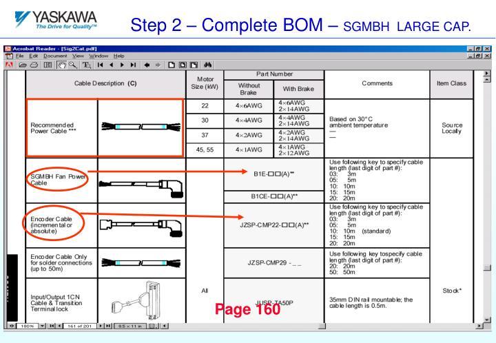 Step 2 – Complete BOM –