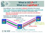 what is uc lp v1 what is a lightpath
