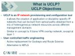 what is uclp uclp objectives