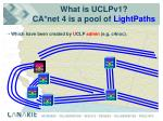 what is uclpv1 ca net 4 is a pool of lightpaths