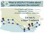 what is uclpv1 it talks about users empower the network