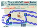 what is uclpv1 users deletes the e2e connections on ca net4
