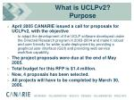 what is uclpv2 purpose