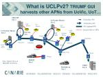 what is uclpv2 triumf gui harvests other apns from uovic uot