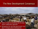the new development consensus