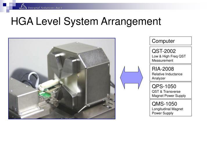 HGA Level System Arrangement