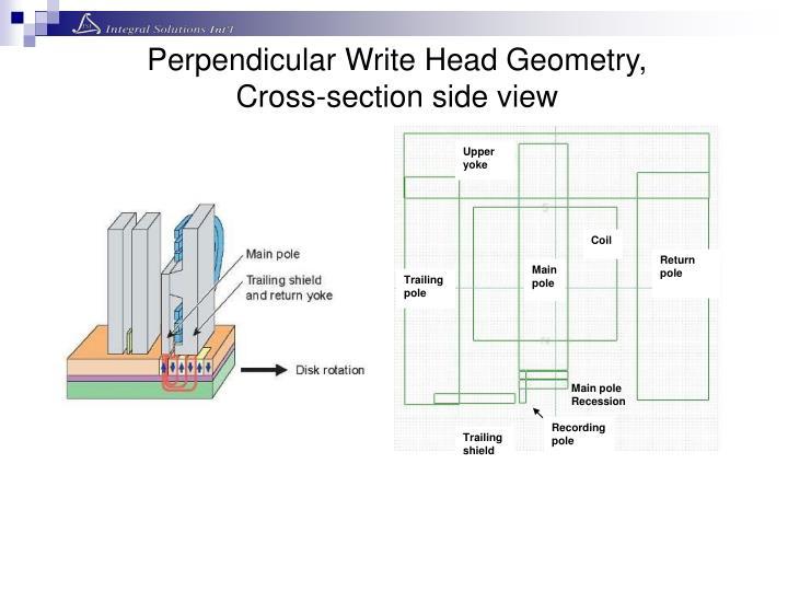 Perpendicular Write Head Geometry,