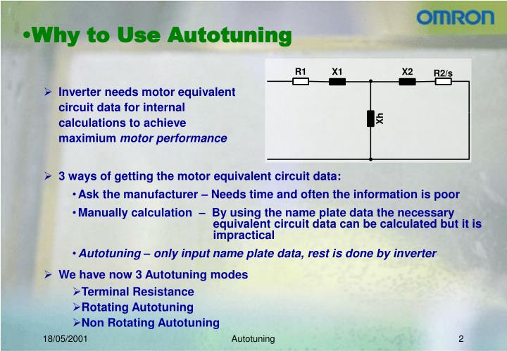 Why to use autotuning