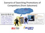 scenario of searching promotions of competitors from salesmen