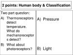 2 points human body classification15