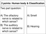 2 points human body classification17
