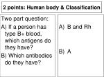 2 points human body classification2