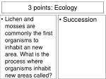 3 points ecology17