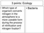 3 points ecology4