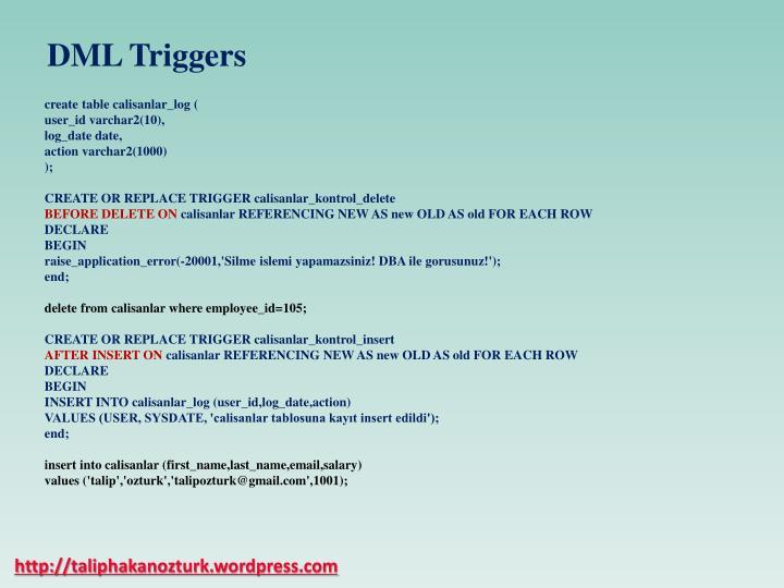DML Triggers