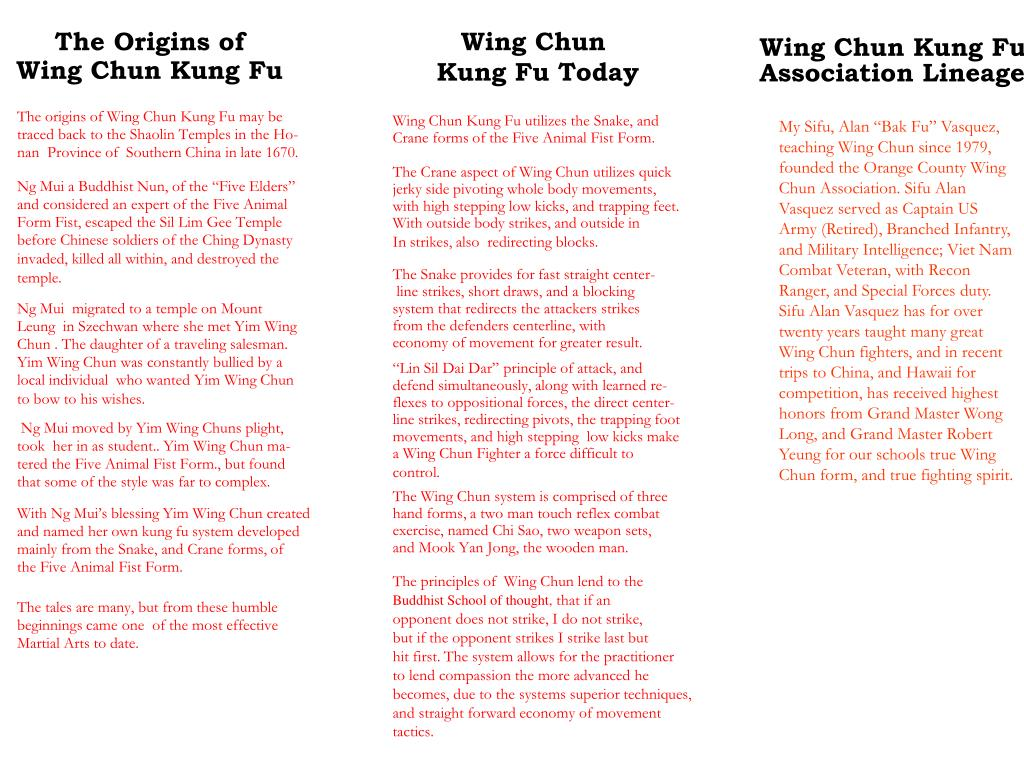PPT - Wing Chun Kung Fu PowerPoint Presentation - ID:6785551
