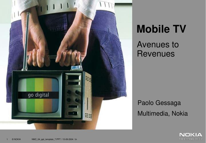PPT - Mobile TV PowerPoint Presentation - ID:6785646