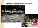 sexual violence issuse for dws