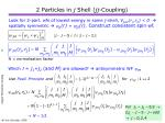 2 particles in j shell jj coupling