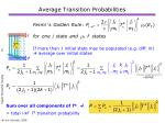 average transition probabilities