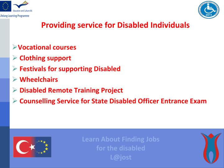 Providing service for Disabled Individuals