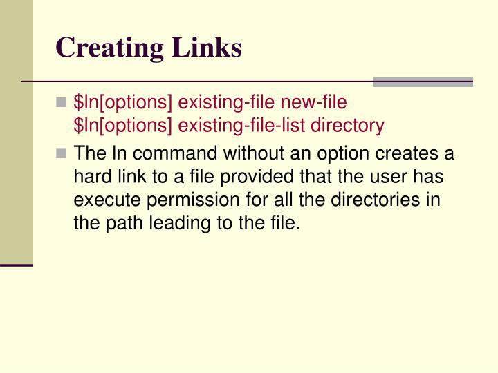 Creating Links