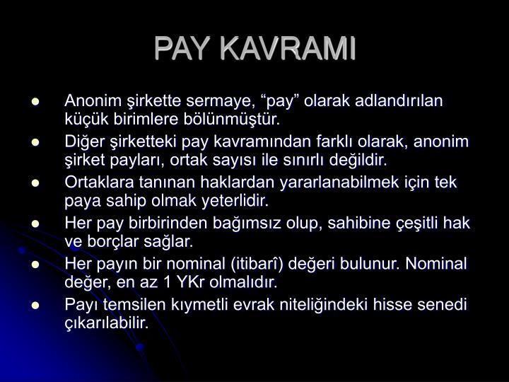 Pay kavrami