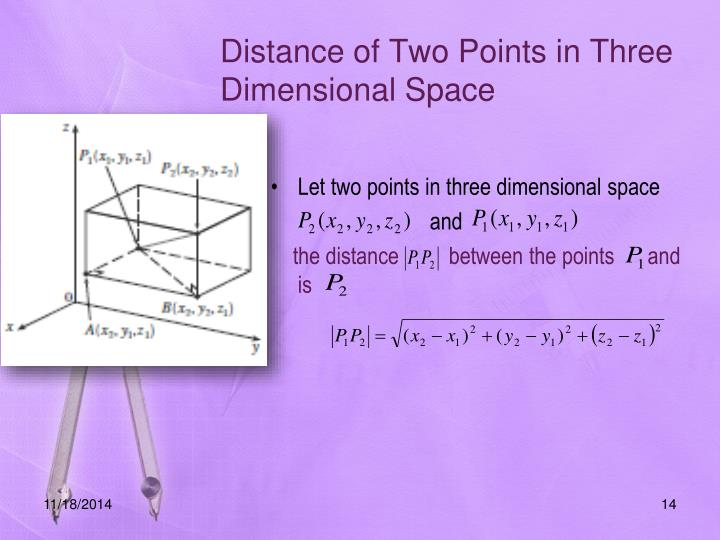 Distance of Two Points in Three Dimensional Space